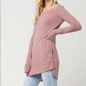 Free People Kate Thermal in Pink Size XS